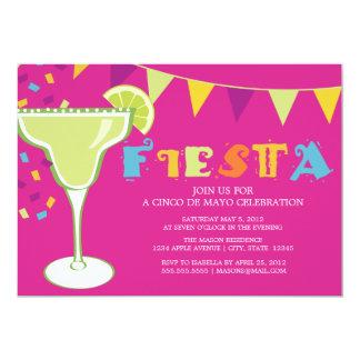 5 x 7 invitation de partie de la fiesta |