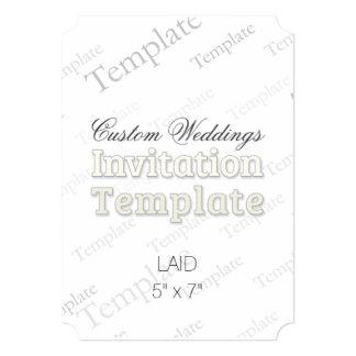"""5"""" x 7"""" Laid Custom Wedding Invitation Ticket"""