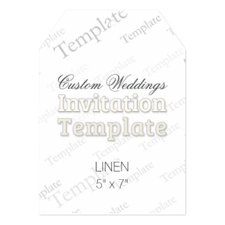 "5"" x 7"" Linen Custom Wedding Invitation Tag 5"" X 7"" Invitation Card"