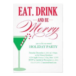 5 x 7 mangent, boisson et soient joyeux invitation