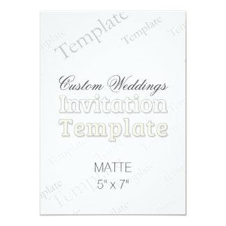 "5"" x 7"" Matte Custom Wedding Invitation"