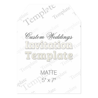 "5"" x 7"" Matte Custom Wedding Invitation Tag 5"" X 7"" Invitation Card"