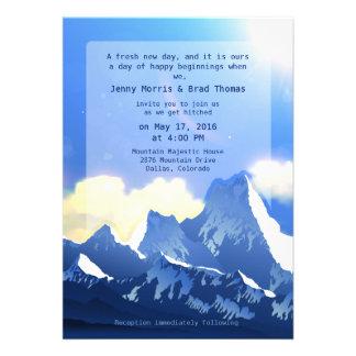 5 x 7 Mountain Majestic Wedding Invitation