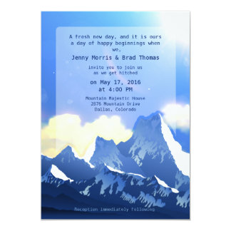 "5"" x 7""  Mountain Majestic Wedding Invitation"