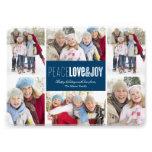 5 x 7 Peace, Love & Joy | Photo Holiday Card