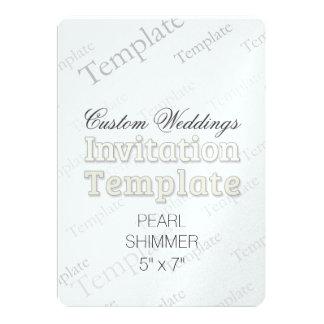 "5"" x 7"" Pearl Custom Wedding Invitation"