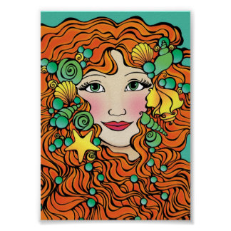 "5"" X 7"" PRINCESS OCEANA MINI ART PRINT"