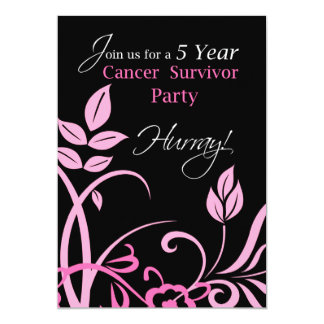 "5 Year Cancer Survivor Party Invitatio 5"" X 7"" Invitation Card"