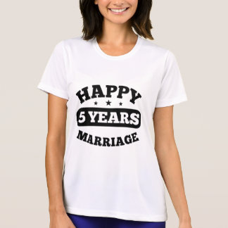 5 Year Happy Marriage T-Shirt