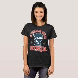 5 year old ninja son t-shirt
