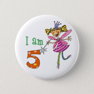 5 year old princess fairy 2 inch round button
