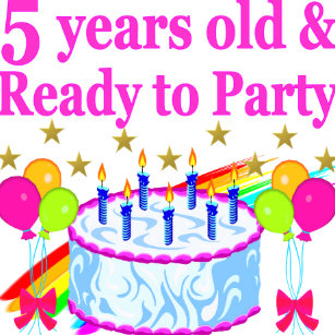 5 YEARS OLD AND READY TO PARTY BIRTHDAY GIRL JEWELRY BOX