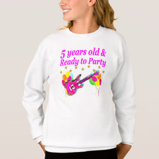 5 YEARS OLD AND READY TO PARTY ROCK STAR SWEATSHIRT