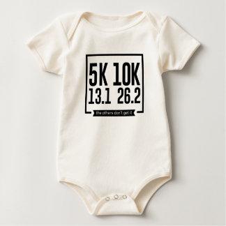 5K 10K 13.1 25.2 Runners Running Marathon Race Baby Bodysuit