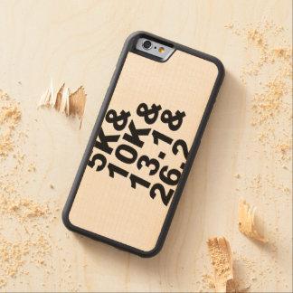 5K&10K&13.1&26.2 (blk) Carved Maple iPhone 6 Bumper Case