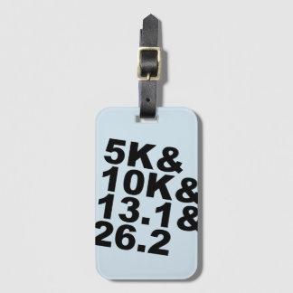 5K&10K&13.1&26.2 (blk) Luggage Tag