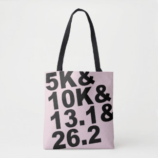 5K&10K&13.1&26.2 (blk) Tote Bag