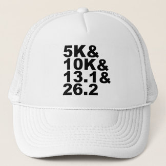 5K&10K&13.1&26.2 (blk) Trucker Hat