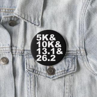 5K&10K&13.1&26.2 (wht) 3 Inch Round Button