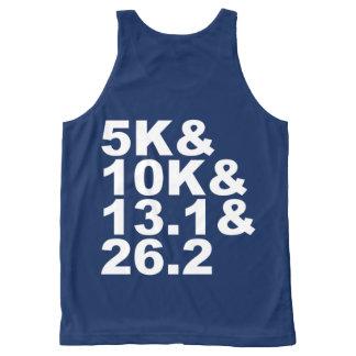 5K&10K&13.1&26.2 (wht) All-Over-Print Tank Top