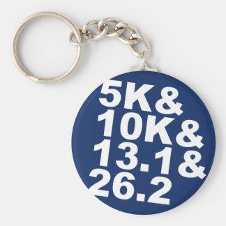 5K&10K&13.1&26.2 (wht) Keychain