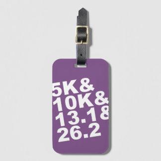 5K&10K&13.1&26.2 (wht) Luggage Tag