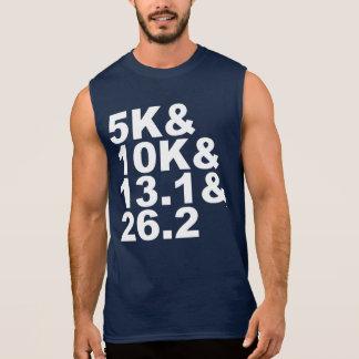 5K&10K&13.1&26.2 (wht) Sleeveless Shirt