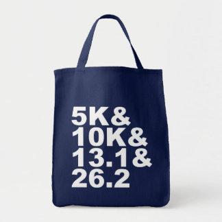 5K&10K&13.1&26.2 (wht) Tote Bag