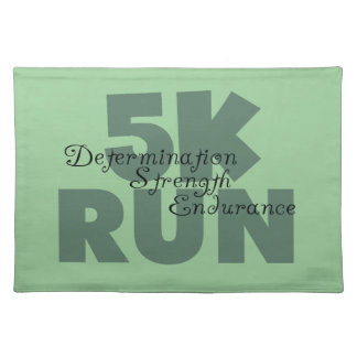 5K Run Green Sports Running Placemat