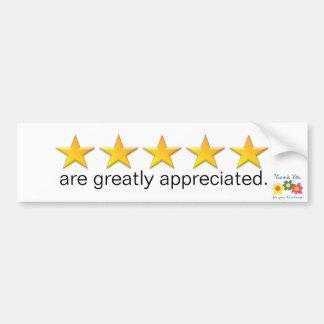 5Star B Stickers for Sun Visor or Back of Headrest Bumper Sticker
