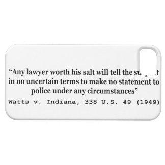 5th Amendment Watts v Indiana 338 US 49 1949 iPhone 5 Case