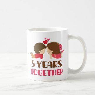 5th Anniversary Gift For Her Coffee Mug