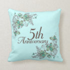 5th Anniversary Gift Throw PIllow