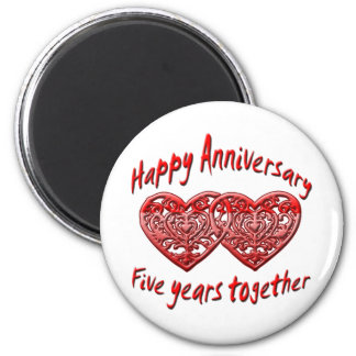 5th. Anniversary Magnet