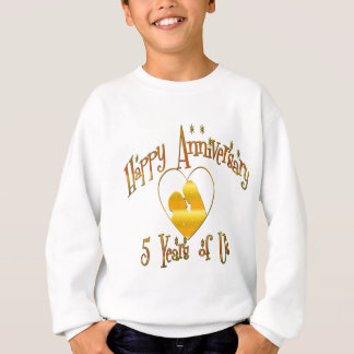 5th. Anniversary Sweatshirt