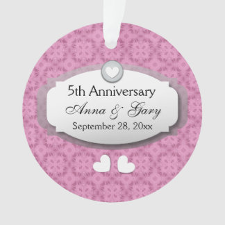 5th Anniversary Wedding Anniversary Z21 Ornament