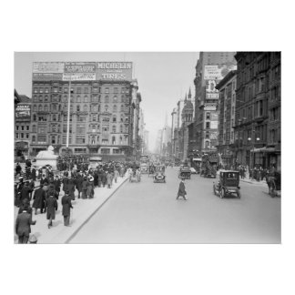 5th Avenue at 42nd Street: 1910 Poster