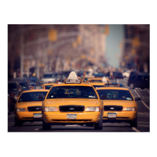 5th Avenue Taxi Cabs Postcard