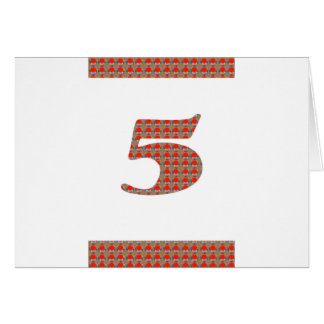 5th BIRTHDAY 5th ANNIVERSARY 5th Special OCCASION Card