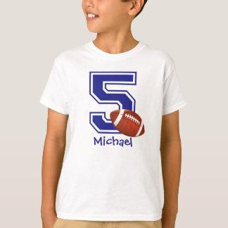 5th Birthday boy football personalized T-Shirt