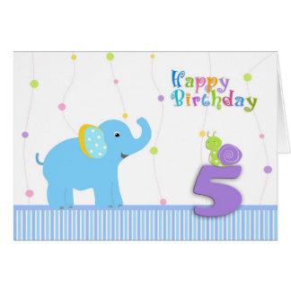 5th birthday card