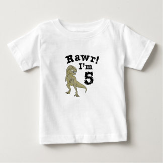 5th Birthday Dinosaur Gift for 4 Year Old Boys Baby T-Shirt