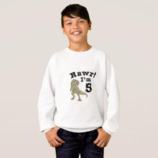 5th Birthday Dinosaur Gift for 4 Year Old Boys Sweatshirt
