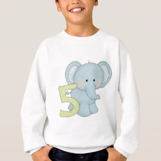 5th Birthday Elephant Sweatshirt