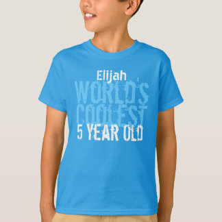 5th Birthday Gift World's Coolest 5 Year Old T-Shirt