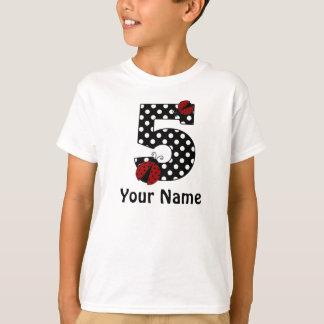 5th Birthday Ladybug Personalized Shirt