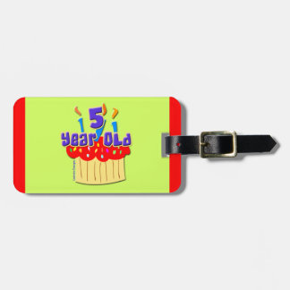 5th Birthday Luggage Tag