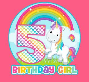 5th Birthday Rainbow Unicorn