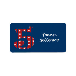 5th Birthday Stars and Stripes Labels