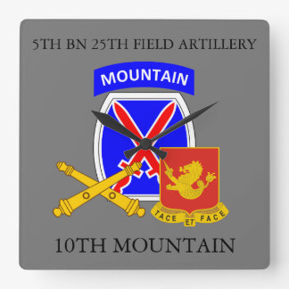5TH BN 25TH FIELD ARTILLERY 10TH MOUNTAIN CLOCK